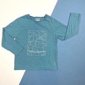 Jacadi Boys Light Blue Long-Sleeve Shirt 6A